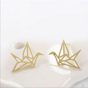 Gold Origami Earrings